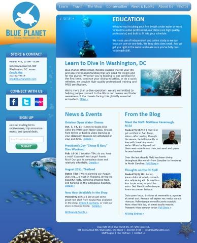 Blue Planet DC Web design concept