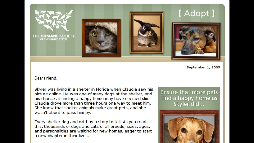 Humane Society of the United States Adopt Campaign